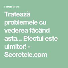 Tratează problemele cu vederea făcând asta... Efectul este uimitor! - Secretele.com Metabolism, Health Fitness, Yoga, Medicine, Yoga Tips, Health And Fitness, Fitness