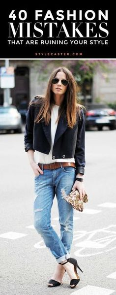 40 fashion mistakes you're making