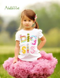 Size 5T Big Sister Shirt Big Sis Girls Applique Tee by Aidille