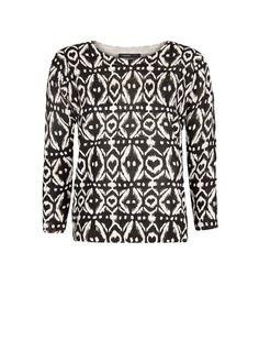 MANGO - Ikat print sweater $50