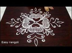 latest simple rangoli designs with 3 dots * easy muggulu * kolam with out colors *rangavalli - YouTube
