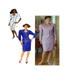 Butterick 4458 Womens Suit Fitted Button Front Jacket/Blazer Sweetheart Neckline Short Long Sleeves Pencil Skirt  Sz 6-8-10 Uncut by FindCraftyPatterns on Etsy