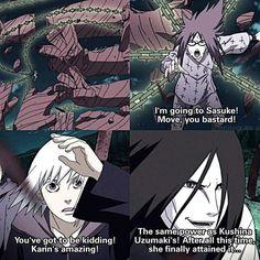 Karin Uzumaki's Power Unleashed I think she truly loved Sasuke ❤️❤️❤️