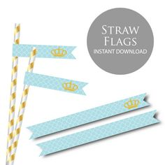 Hey, I found this really awesome Etsy listing at https://www.etsy.com/listing/214722495/little-prince-baby-shower-straw-flags