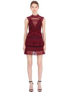 New Self-Portrait Teardrop Guipure Dress W/ Lace Panels fashion online. [$465]newtopfashion top<<