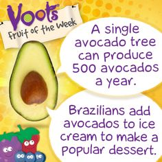 Fun facts on #avocado, the Voots Fruit of the Week