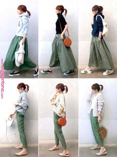 If you need casual, attempt tucking mini skirt within the One. Fashion Mode, Fall Fashion Outfits, Japan Fashion, Mode Outfits, Fashion Pants, Hijab Fashion, Love Fashion, Skirt Outfits Modest, Denim Skirt Outfits