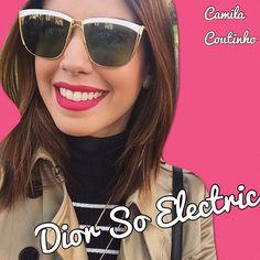 Camila Coutinho usa seus óculos de sol Dior So Eletric. Não ficou um arraso? #garotas #estupidas #blogueira #sunglasses #oticas #wanny