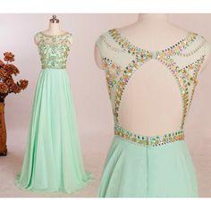 Charming Prom Dress,Long Prom Dresses,Sexy Backless Prom Dresses,Chiffon