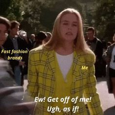 The Best Sustainable Fashion Memes That Eco Fashion Advocates Will Relate To Sustainable Clothing, Sustainable Fashion, Sustainable Living, Paramount Movies, Chanel Boots, Self Described, Fast Fashion Brands, Fair Trade Fashion, Warrior Princess