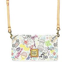 Mickey and Minnie Mouse ''A Walk in the Park'' Crossbody Wallet by Dooney & Bourke | Disney Store Mickey and Minnie are on the move in our Parks for this nifty neon pattern by Dooney & Bourke. Our leather-trimmed wallet is equipped with crossbody strap to stylishly carry your on-the-go essentials.