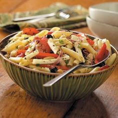 Potluck Antipasto Pasta Salad Recipe from tasteofhome.com