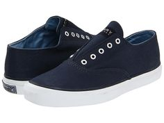 Sperry Top-Sider Laceless CVO Navy Canvas - 6pm.com