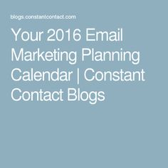 there is the one simple question you should ask yourself before your 2016 email marketing planning calendar