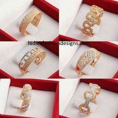 latest designs of gold rings for womens - Fashion Beauty Mehndi Jewellery Blouse Design Gold Bangles Design, Gold Earrings Designs, Gold Jewellery Design, Gold Rings Jewelry, Diamond Jewelry, Jewelery, Indian Wedding Jewelry, Bridal Jewelry, Gold Finger Rings