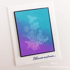 Distress Oxide Inks Technique Tutorial - Stamping with Water - Just for Fun Rubber Stamps Flora and Fauna - Heidi @ My Litttle Stamping Blog