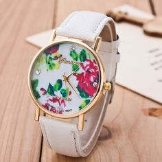 Floral Print Crystal Fashion Watch sold by Watch Me. Shop more products from Watch Me on Storenvy, the home of independent small businesses all over the world.