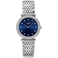 Longines Women's Swiss La Grande Classique de Longines Diamond Accent... ($5,050) ❤ liked on Polyvore featuring jewelry, watches, no color, stainless steel bracelet watch, diamond accent jewelry, longines, watch bracelet and stainless steel wrist watch