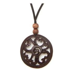 NOVICA Hand Made Floral Coconut Shell Pendant Necklace (265.765 IDR) ❤ liked on Polyvore featuring jewelry, necklaces, accessories, clothing & accessories, coconut shell, pendant, cord necklace, handcrafted necklaces, seashell pendant necklace and shell pendant necklace