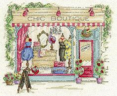 Buy+Chic+Boutique+Cross+Stitch+Kit+Online+at+www.sewandso.co.uk