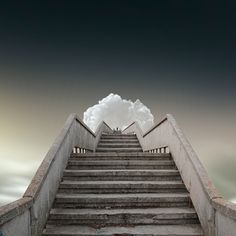 Photo manipulation based on my own stock photography by Caras Ionut Stair Steps, Angel Pictures, Angels In Heaven, Stairway To Heaven, Conceptual Art, Photo Manipulation, Stairways, Amazing Art, Surrealism