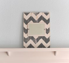 Wood Plank Chevron Picture Frame  5x7 by JHomeStudios on Etsy, $38.00
