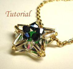 Beading Tutorial Beaded Midnight Star Pendant by Splendere Beaded Earrings, Beaded Jewelry, Handmade Jewelry, Trendy Jewelry, Bohemian Jewelry, Bridal Jewelry, Gemstone Jewelry, Silver Jewelry, Bugle Beads