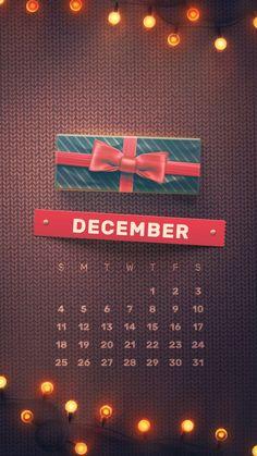 December Calendar, 2016 Calendar, Phone Backgrounds, Wallpaper Backgrounds, Iphone Wallpapers, Calendar Wallpaper, Christmas Wallpaper, 9 And 10, Daily Journal