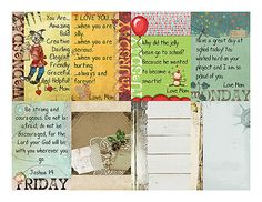 Scrapbookgraphics.com :: Actions & Styles :: Actions :: Scrap Actions :: ACTION: Lunch Box Notes