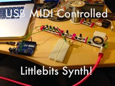 Picture of USB MIDI Littlebits synth!