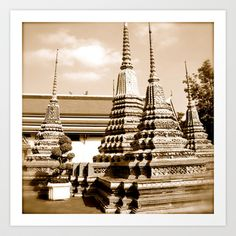 Wat Po a beautiful temple in Thailand (Bangkok & Travel) - Thai Massage School Art Print by over7seas - $17.68