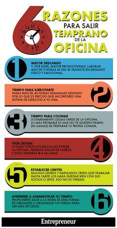 Valora este post Hola: Una infografía con6 razones para salir pronto de la oficina. Vía Un saludo  GuardarGuardar Anuncios Relacionado
