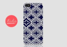 NAVY Blue GEOMETRIC Pattern - iPhone 4, iPhone4s, iPhone 5, iPhone 5s Case  #geometric #geometriciphone #geometriciphonecase #pastelcase #pastel #pasteliphonecase #navyiphonecase #navyiphone #gatsby #white #iphone5 #iphone4