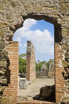 Old Panama ruins. Panama City, Panama