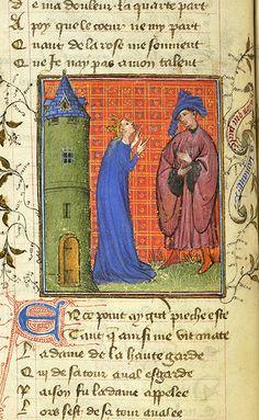 PML MS M.245, fol. 22v  Roman de la Rose. France, possibly Paris, c. 1405.