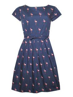 Run & Fly Navy Flamingo Dress-2701