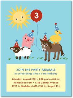 Farmyard invitation