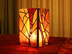 Purple Stained Glass Vase/Candleholder Mosaic by irmaKdesigns