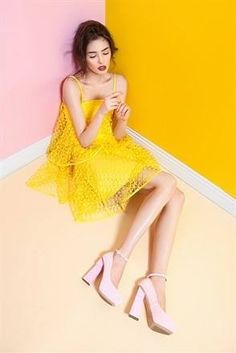 Pink and Yellow vogue Italian