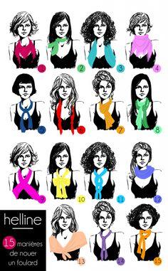 Foulard en soie, foulard bandeau, echarpe tube : 15 façon de les plier