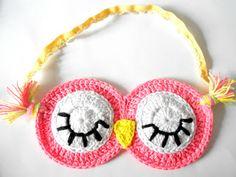 F i r e f l y C r o c h e t: Sleepy Owl sleeping mask - Mặt nạ cú đi ngủ (pattern)