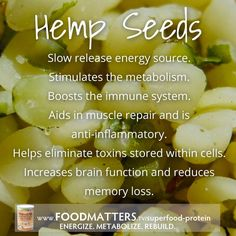 The specially sourced hemp seeds in our Food Matters Superfood Protein blend are processed at premium standards to ensure the nutritional integrity offering you the most power-packed hemp seeds possible! Find out full details here: http://foodmatters.tv/superfood-protein