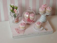 Miniature Shabby Chic sweet board by CynthiasCottageShop on Etsy