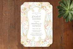 Beautiful Bouquet Bridal Shower Invitations by Phrosne Ras at minted.com
