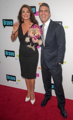 Lisa VAnderpump and Andy Cohen attend Emmy event
