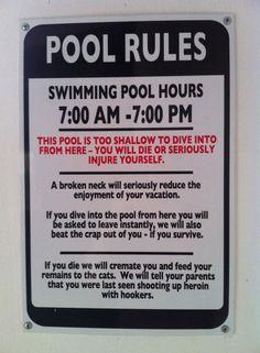 Interesting Pool Rules