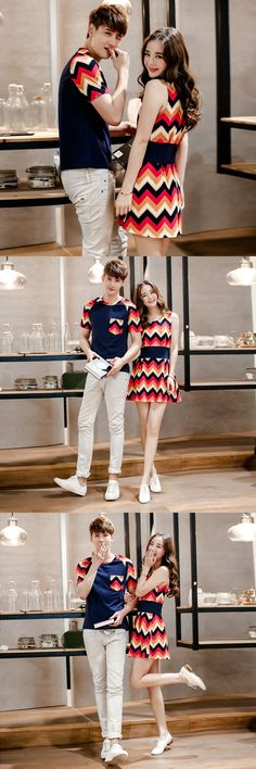 KJ289 Couple T shirt For Lovers Clothes Men Summer Tees O-Neck Casual Fashion Short Sleeve Tshirt Women's Dresses Couple Clothes