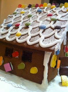 Roof of gingerbread house