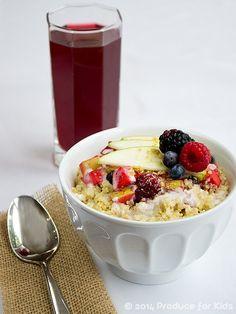 Apple-Berry Crisp Breakfast Quinoa Bowl (a make-ahead breakfast!)