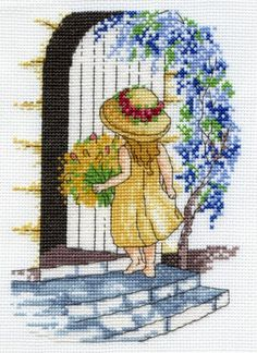 """All our Yesterdays, Faye Whittaker """"Wisteria"""" Kreuzstichpackung / cross stitch kit"""